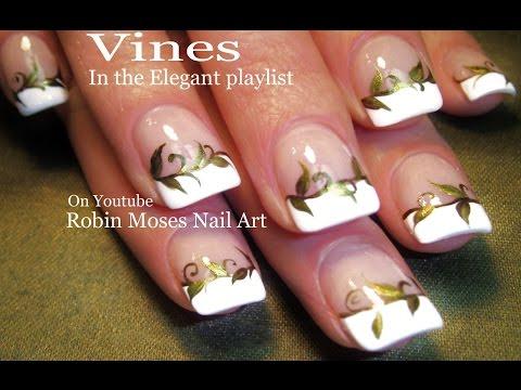Nail Art Gold Nails Elegant Vine Nail Design Tutorial