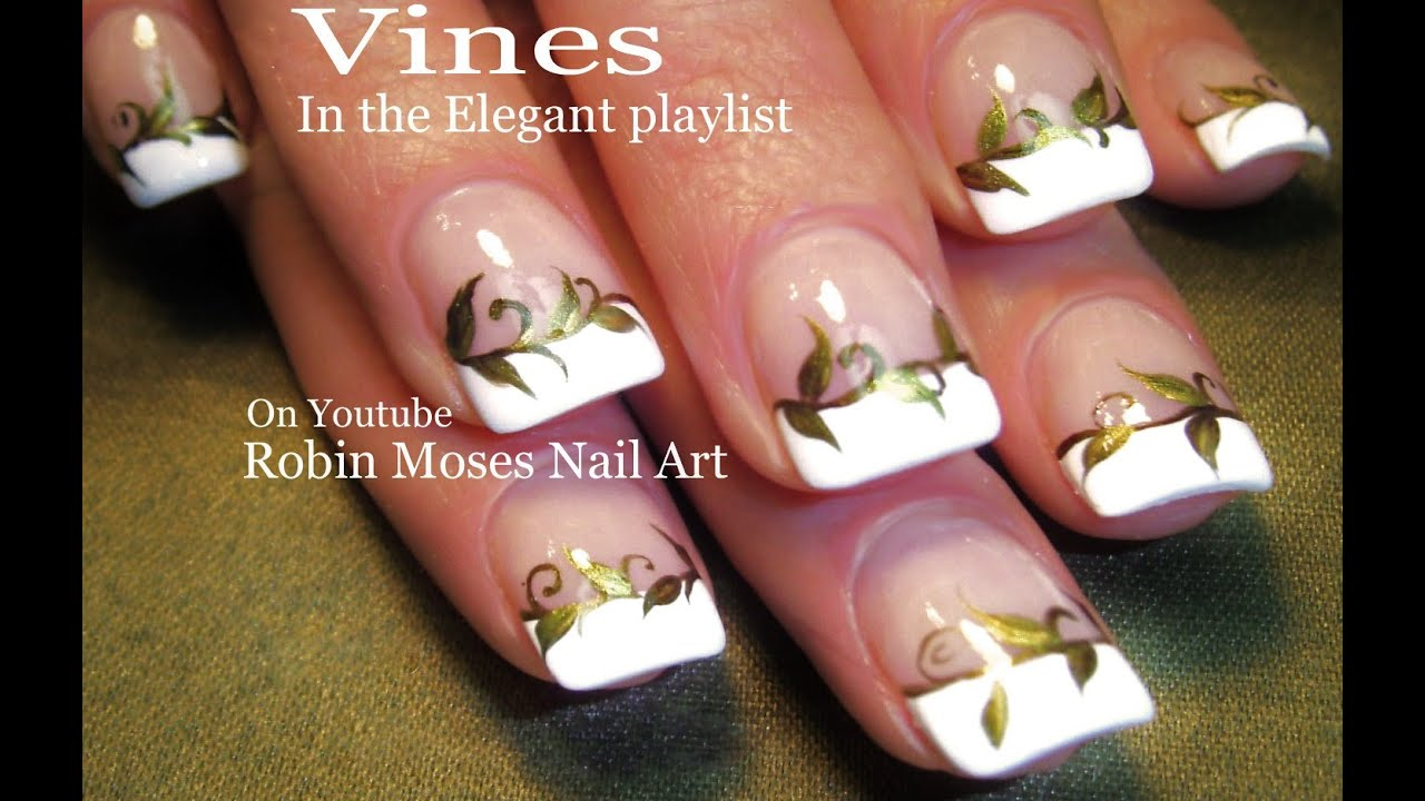 Nail Art - Gold Nails! Elegant Vine Nail Design Tutorial - YouTube