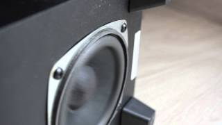 Creative Inspire T3130 subwoofer excursion test