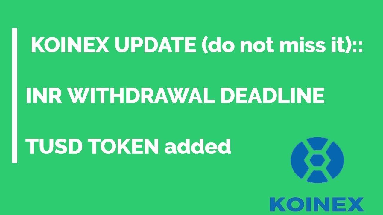 Koinex News Upate   5 july RBI Bitcoin Ban   TUSD Bitcoin News crypto update India