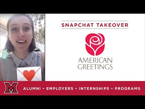 Laura's Marketing Internship for American Greetings in Cleveland, OH