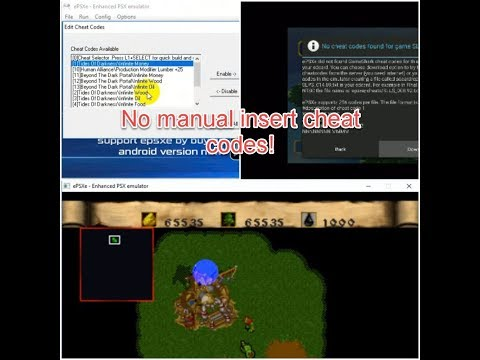 How To Use Cheat Codes EPSXe For Windows & Android Without Manual Insert Cheat Code!