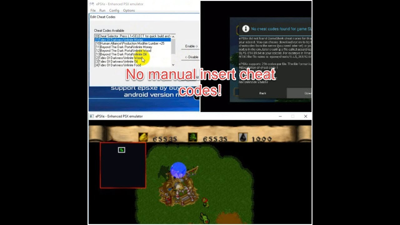 epsxe gameshark not working