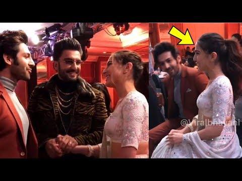 Saif's daughter SARA Ali Khan blushes alot when she finally meets her Crush Kartik Aryan