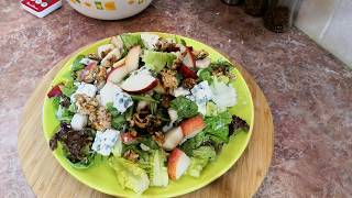 Обалденный Салат Без Майонеза .Французский Салат с Грушей орехами и сыром .