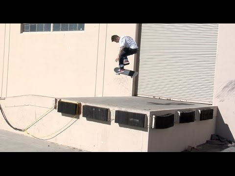 Cody McEntire Nollie bs big spin Gardenia bump over loading dock raw