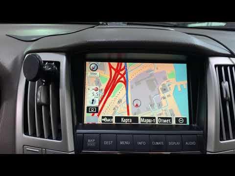 Русификация меню навигации Lexus RX350 RX400h. Установка карт навигации 2021г.