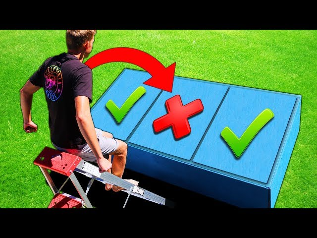 DONT Jump on the Wrong TRAP DOOR!! (PAINFUL MYSTERY ITEMS UNDERNEATH)