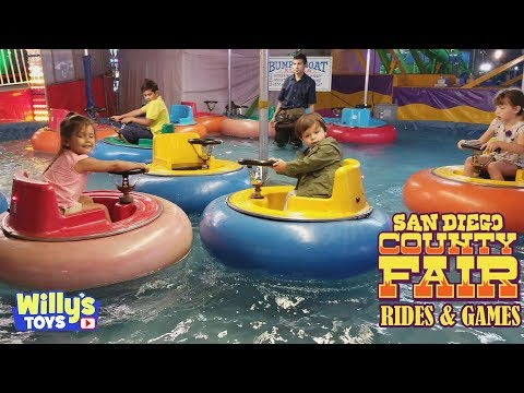 Rollercoasters | Kids Rides | Bumper Cars | Games And Prizes At San Diego Fair 2017 Willys Toys