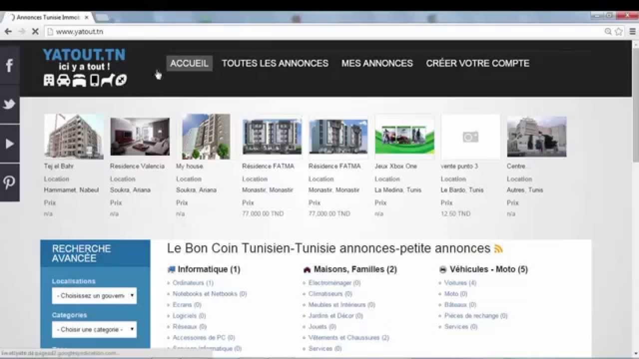 publier annonces tunisie avec votre compte email passer une annonce gratuite en tunisie youtube. Black Bedroom Furniture Sets. Home Design Ideas