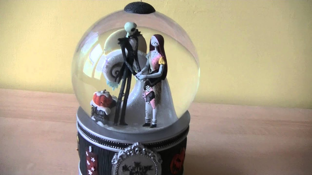 my nightmare before christmas snow globe jack and sally youtube - Nightmare Before Christmas Snow Globes