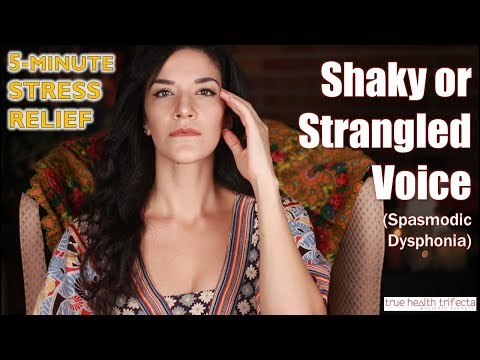 How to STOP a Shaky Voice (Spasmodic Dysphonia)! - Stress Relief Series / EFT / Cat Lady Fitness