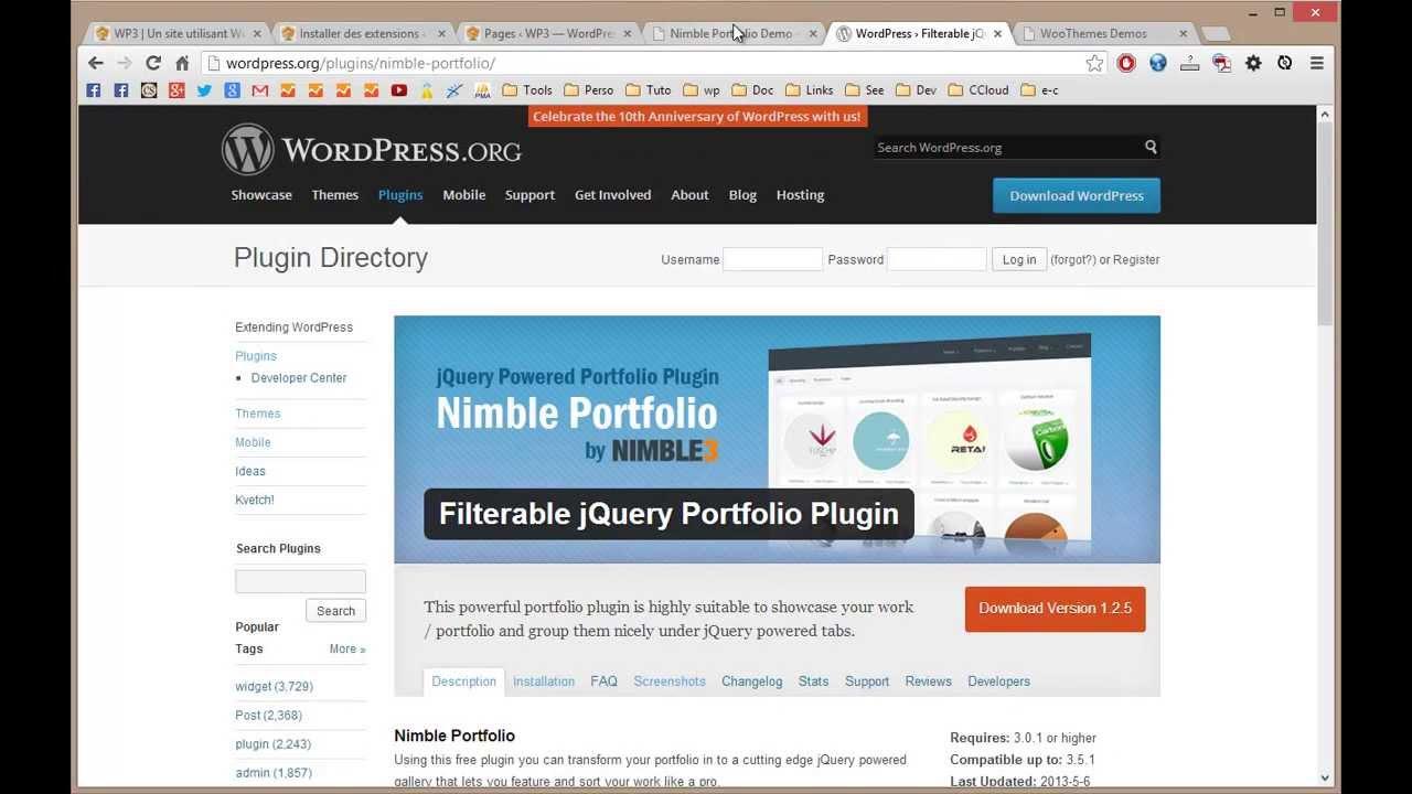 Nimble Portfolio plugin portfolio avec des filtres jQuery