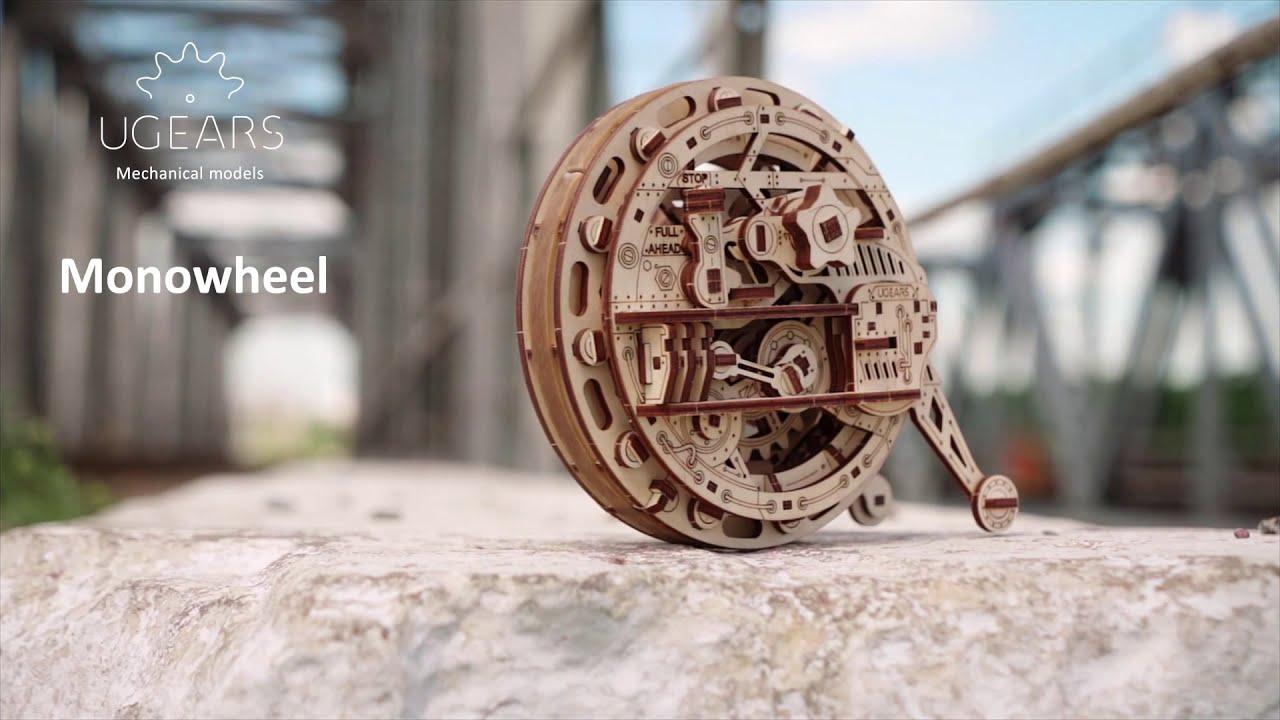 Jednokołowiec Model mechaniczny UGEARS   Zestaw własnoręcznego składania  bez kleju