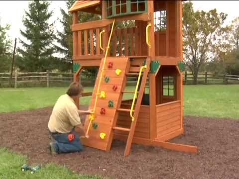 Costco 2011 Cedar Summit Play Set Panorama Assembly