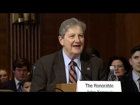 Sen. Kennedy Introduces Dan Brouillette at His Confirmation Hearing to be Secretary of Energy