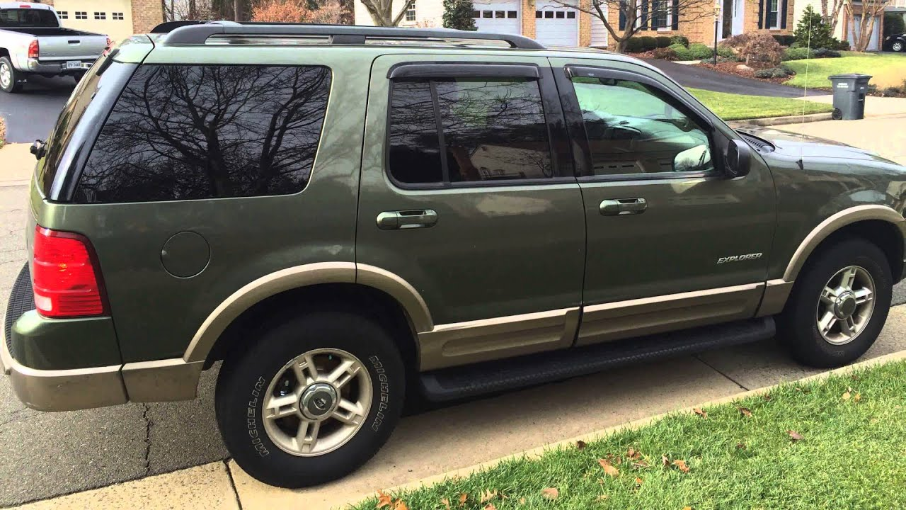 2002 Ford Explorer Eddie Bauer >> 2002 Ford Explorer Eddie Bauer Edition Forest Green 4k Video