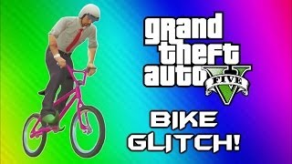 GTA 5 Flying Bike Glitch! - World Record, BMX Wins & Fails (GTA 5 Online Funny Moments Gameplay)