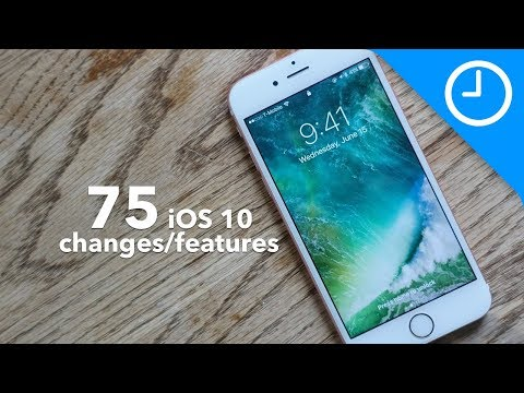 75 new iOS 10 features / changes!
