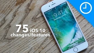 75 new iOS 10 features / changes!(Subscribe now ▻ http://bit.ly/9to5YT - A hands-on look at 75 new iOS 10 features with commentary. Visit http://9to5mac.com/guides/ios-10/ for more details., 2016-06-15T15:07:34.000Z)