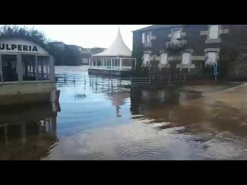 Desbordamiento del río Miño a su paso por Lugo