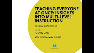 Teaching Everyone at Once: Insights into Multi-Level Instruction