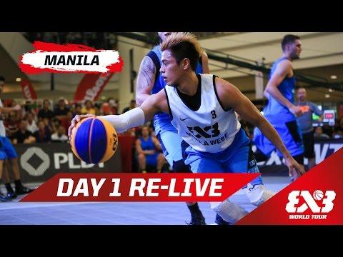 Day 1 + Dunk Contest Qualifier - Re-Live - Manila - 2015 FIBA 3x3 World Tour