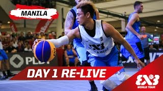 Day 1 + Dunk Contest Qualifier - Re-Live - Manila - 2015 FIBA 3x3 World Tour