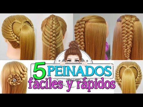 5 Peinados Faciles Y Rapidos Con Trenzas Para Fiestas Escuela Ninas