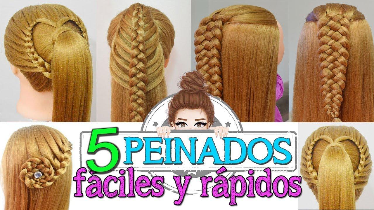 5 peinados faciles y rapidos con trenzas para fiestas - Pinados de fiesta ...