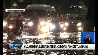 Hujan Deras di Depok Sebabkan Banjir dan Pohon Tumbang