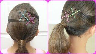 Colored Rosettes Ponytail/ Rosetas de color en Cola de Caballo / Bonita Hair Do
