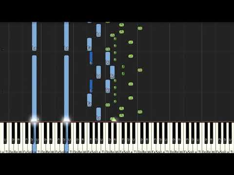 Prelude From Pour Le Piano L 95 No  1 Claude Debussy - ピアノ(Synthesia)