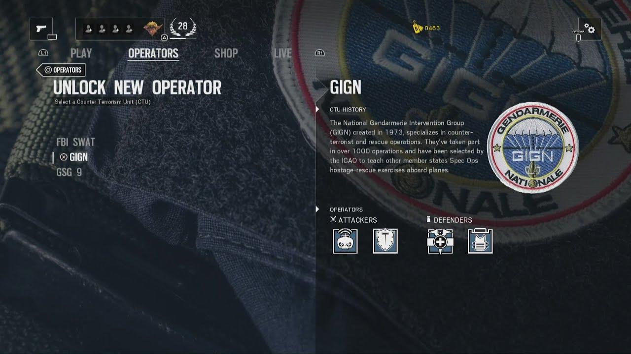 Rainbow Six Siege Gign Operators: Unlocking All GIGN Operators