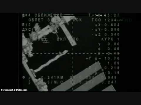 INTERNATIONAL SPACE STATION  SOYUS DOCKING with the ISS December 23rd 2011 HIGH QUALITY !!!