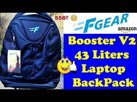 F Gear Booster V2 43 Liters Laptop BackPack Unboxing And Review | Best Laptop Backpack | लैपटाॅप बैग