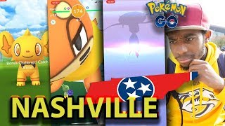 SHINY SHINX + BUIZEL AND CARNIVINE IN POKEMON GO!! WELCOME TO NASHVILLE TENNESSEE