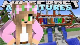 Minecraft - Little Kelly Adventures : ROLLERCOASTER FUN! w/ Little Carly and Donut The Dog