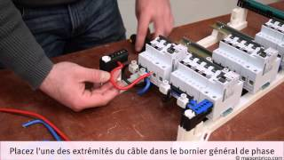 Installation d'un tableau électrique pré-équipé