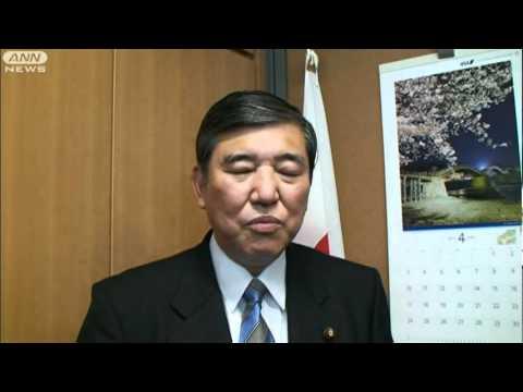 石破政調会長、スーちゃんを語る 急逝にショック(11/04/22)