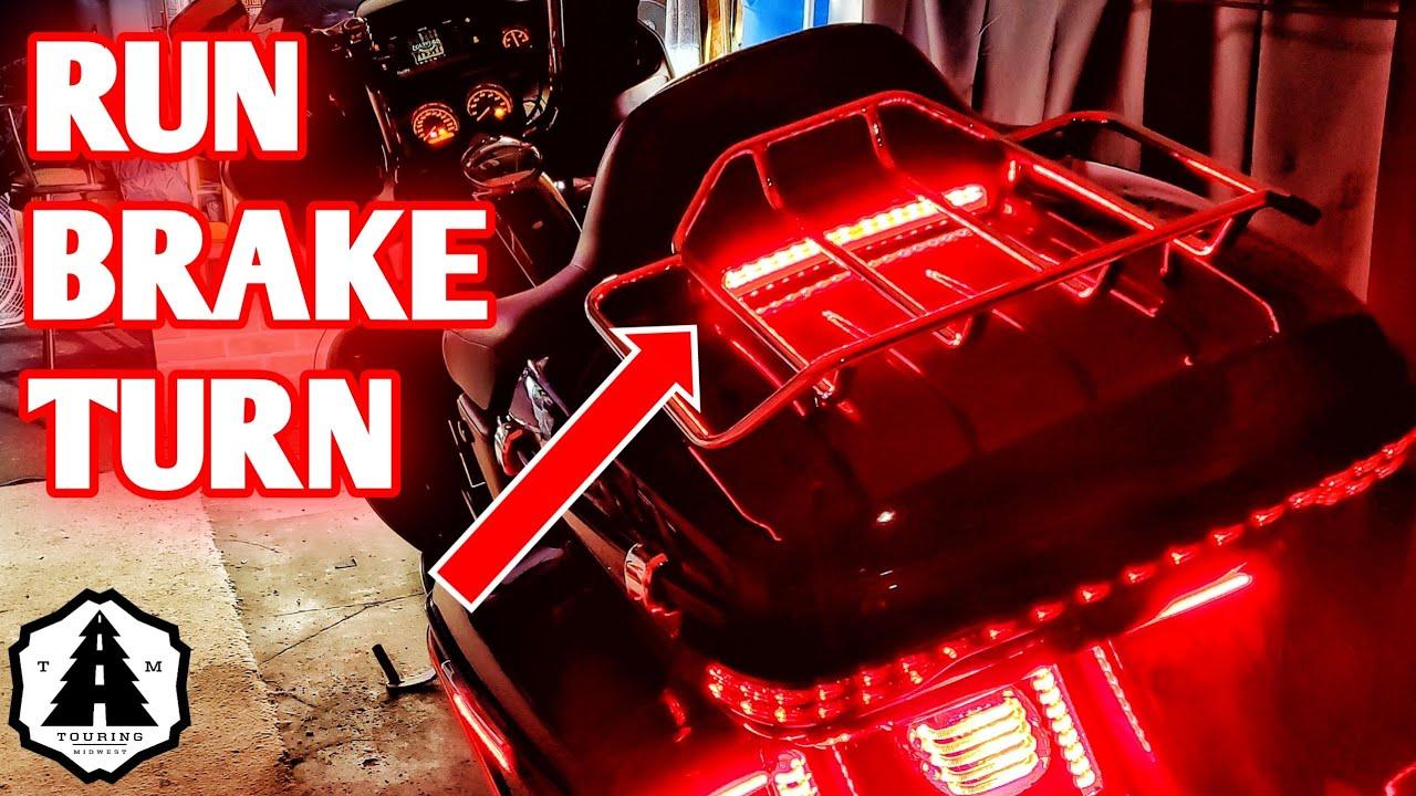 AUFER Saddlebag Tail Running Brake Light Turn Signal Light LED for Touring Street Glide Road King 2014-2019