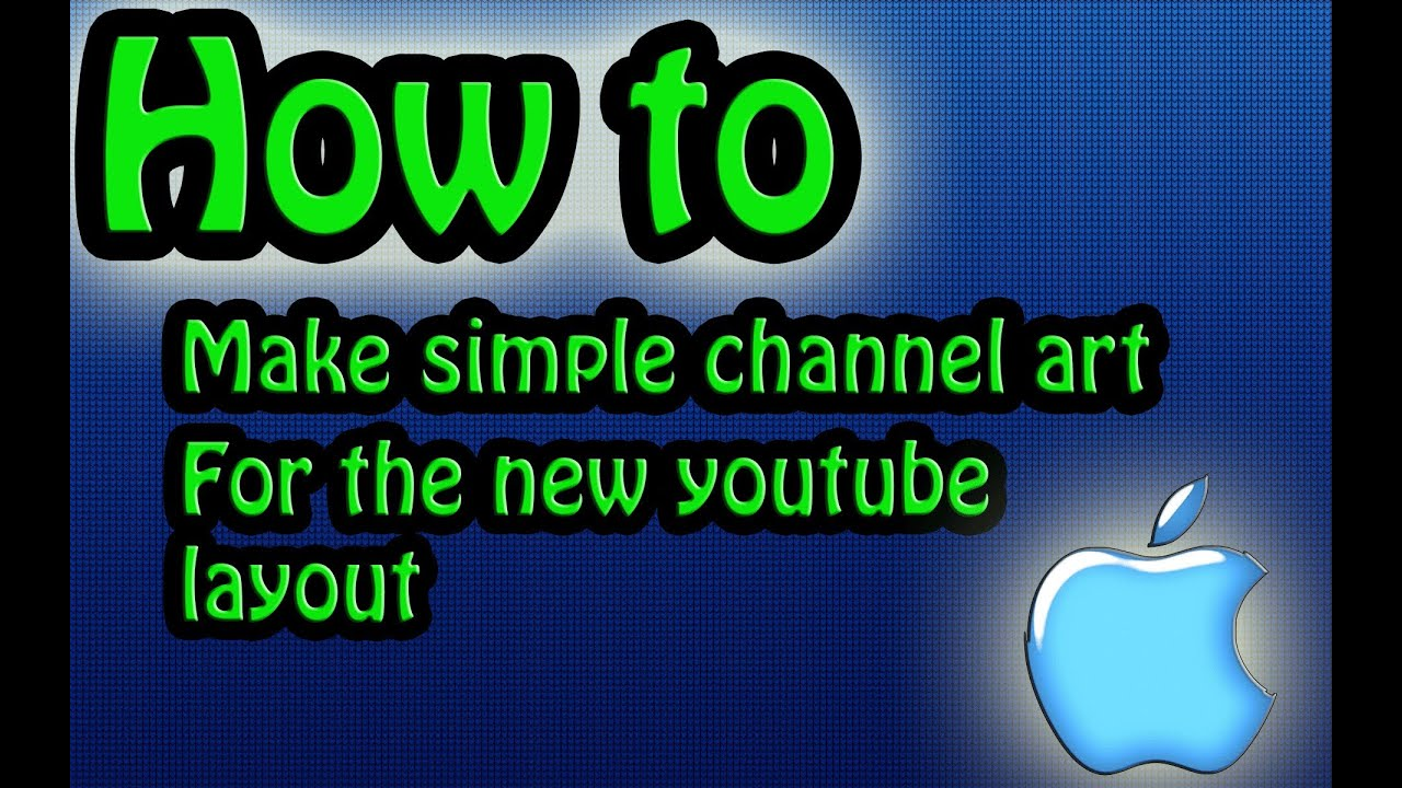 how to make channel art with gimp