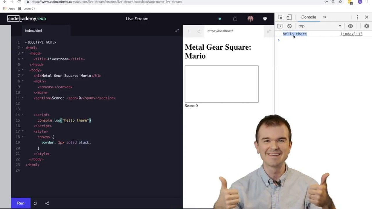 Livestream: Build Your First Javascript Game