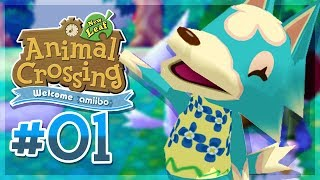 Let's Play Animal Crossing New Leaf: Welcome Amiibo ▸ #1 ▸ A Brand New Town! [3DS Capture Card]