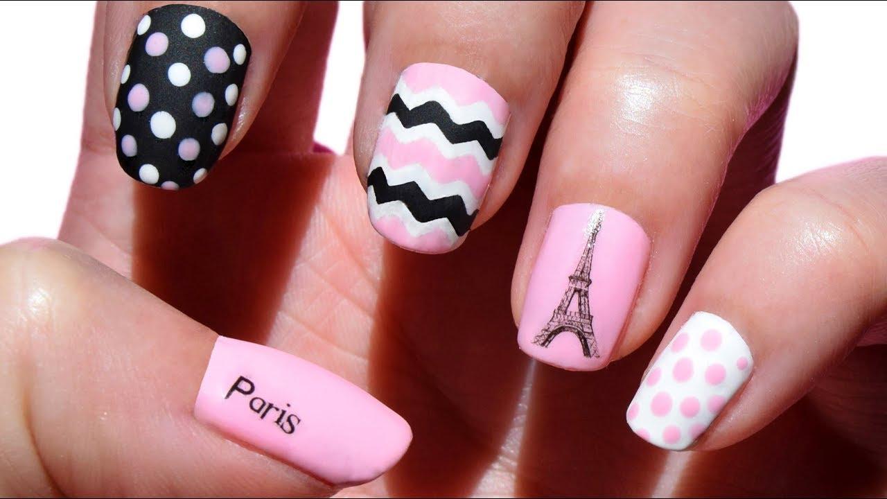 Manicura Torre Eiffel Paris Nail Art Colaboración BPS 6 ...