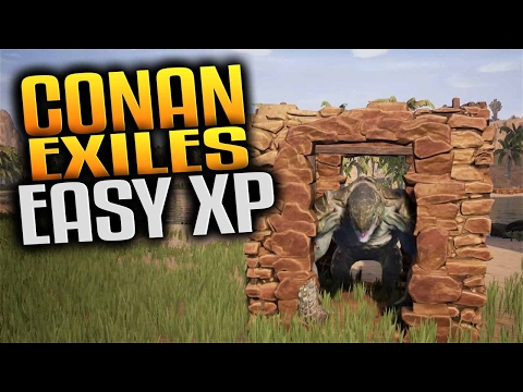 Conan Exiles Gameplay - Easy XP Creature Trap & Pit of Yog Construction (Let's Play Conan Exiles)