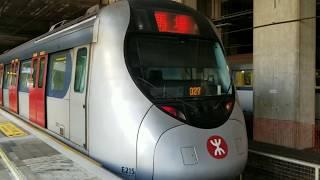 [千九馬特] 港鐵 EAL SP1900 (E213/E215) 駛入紅磡站一號月台+九龍塘至馬場行車片段+清客熄燈 (馬場特車)