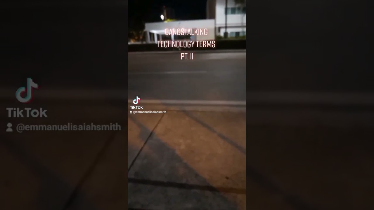 Pt. 2 [Re-post] It is Your Host, Emmanuel Isaiah Smith. These videos are about Gangstalking