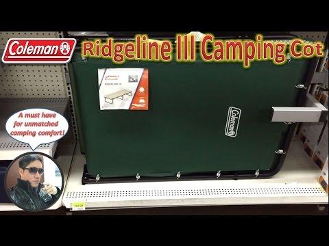 Coleman Ridgeline Iii Camping Cot Youtube