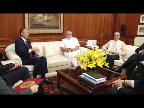 President of World Bank, Dr. Jim Yong Kim meets PM Narendra Modi